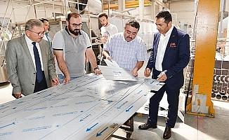 DTO Başkanı Erdoğan, makina sanayinin öncülerinden Şevval Makine'yi gezdi