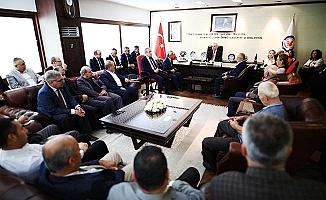Muhtarlardan Başkan Zolan'a ziyaret