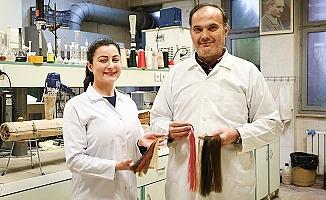 PAÜ'de geliştirilen sentetik saçlar gerçeğini aratmıyor