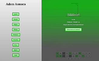 PAÜ ÇTLE'den 9 dilde çevrimiçi Adam Asmaca oyunu