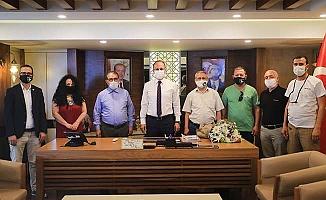 Başkan Örki Gazetecileri ağırladı