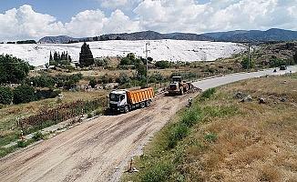 Pamukkale Belediyesi'nden turizm yoluna kalıcı çözüm