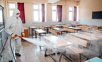 Pamukkale'de LGS öncesi okullar dezenfekte edildi