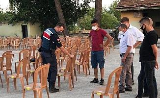 Sarayköy'de düğünlere Covid-19 denetimi