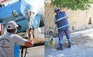 Bayram sonrası Pamukkale'de hummalı temizlik