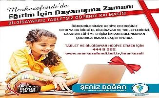Merkezefendi'de ihtiyaç sahibi öğrencilere tablet ve bilgisayar desteği