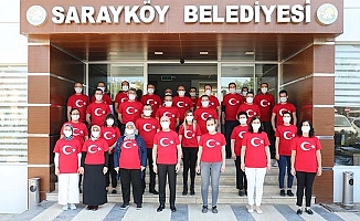 Sarayköy Belediyesi'nde ay yıldızlı mesai