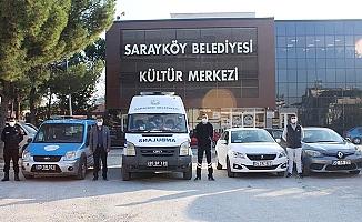 Sarayköy Belediyesi'nden filyasyon ekibine araç ve personel desteği