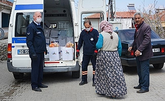 Babadağ Belediyesi'nden karantinadaki ve ihtiyaç sahibi vatandaşlara gıda yardımı