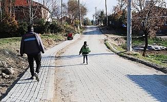 Eymir Mahallesinin yolları yenilendi