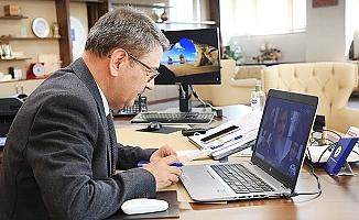 Rektör Vekili Kutluhan, PAÜ'nün engelli personel ve öğrencileri ile dijital platformda bir araya geldi