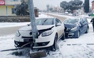 Kar kazaları da beraberinde getirdi