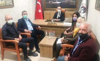 Akışık Kahvehaneciler Odası Başkanı Demirci ile görüştü