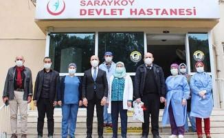 Başkan Özbaş, sağlık kahramanlarına ilçe halkı adına teşekkür etti