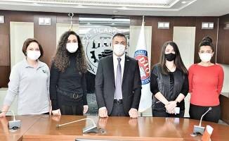 DTO Başkanı Erdoğan kadın personellerini unutmadı