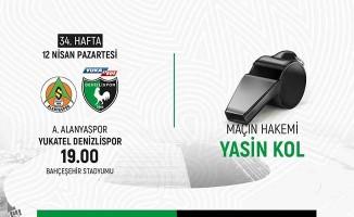 Denizlispor'un Alanyaspor maçında Yasin Kol düdük çalacak