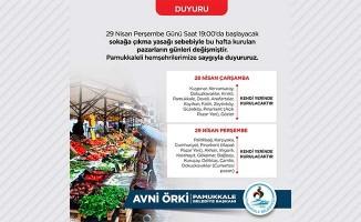 Pamukkale'de pazarlara kısıtlama ayarı