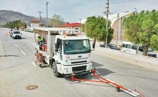 Serinhisar'da sıcak asfalt çalışması tamam