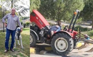 Traktör kullanırken kafasına beton kiriş düşen çiftçi hayatını kaybetti