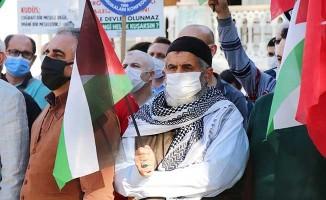 Denizli'de İsrail zulmü STK'lar tarafından protesto edildi