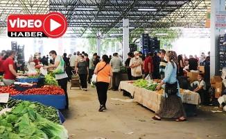 Denizli'de pazar yerleri tedbirler kapsamında 2'nci kez açıldı