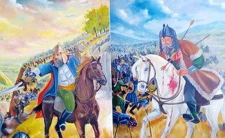Denizli'nin savaşlarını dev tuvallerde ölümsüzleştirdi