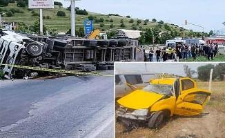 İzmir'de feci kaza: 2 ölü, 5 yaralı