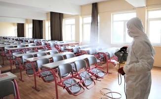 Pamukkale'de ALES sınavı öncesi sınıflar dezenfekte edildi