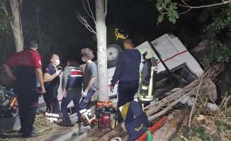 2 aracın uçuruma yuvarlandığı kazada son bilgiler
