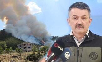Bakan Pakdemirli'den Denizli'deki orman yangınıyla ilgili açıklama