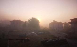Çameli'de yağışın ardından sis etkili oldu