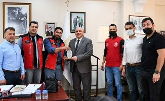 İHH Denizli Yönetiminden Başkan Şevik'e teşekkür ziyareti