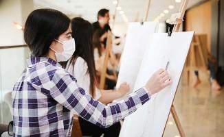 Merkezefendi'de akademik resim kursu yoğun ilgi görüyor