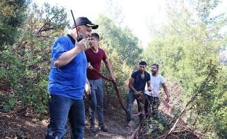Orman yangını için Denizli'ye 3 ilden takviye helikopter geldi
