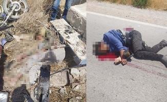 Otomobil motosiklete çarptı: 1 ölü, 1 ağır yaralı