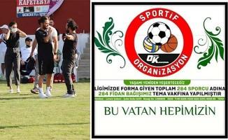 Yaz futbol ligine katılan 284 sporcu adına fidan bağışı yapıldı