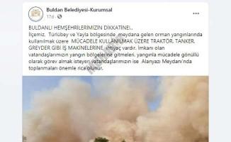 Buldan Belediyesi'nden halka destek çağrısı