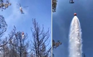 Canlı yayın yaparken helikopter üzerine su boşalttı