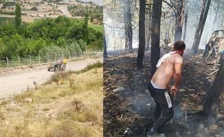 Honaz'daki orman yangını hızlı müdahaleyle büyümeden söndürüldü