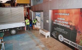 Pamukkale Belediyesinden yangın bölgelerine tam destek