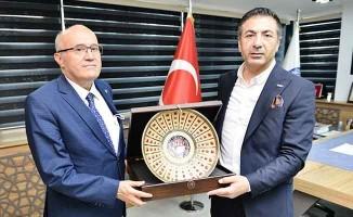 Kaymakam Balcıoğlu'ndan DTO Başkanı Erdoğan'a veda ziyareti