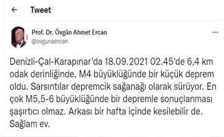 Prof.Dr. Ercan'dan Denizli'de deprem değerlendirmesi