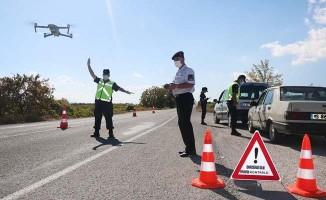 Jandarma'dan drone ile trafik denetimi