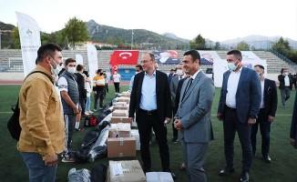 Pamukkale Belediyesinden Amatör Futbol Kulüplerine malzeme yardımı