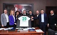 Abalı Denizlispor yönetimi Başkan Doğan'ı ziyaret etti