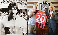 Eski milli futbolcudan Başkan Özbaş'a ziyaret