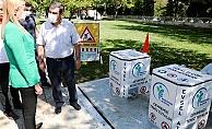 Merkezefendi'de 'Yeraltı çöp konteyneri' pilot uygulaması başladı