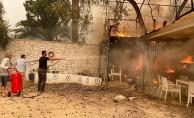 Bodrum'da korkulan oldu, alevler evlere sıçradı