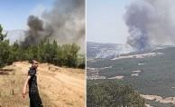 Denizlide başlayan orman yangını için halk seferber oldu