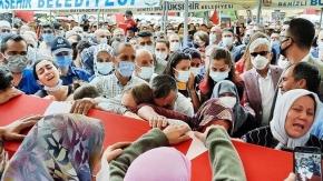 Şehit Polis Yangöz'ü son yolculuğuna binlerce hemşehrisi uğurladı